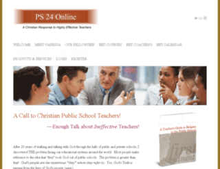 ps24online.coachesconsole.com screenshot