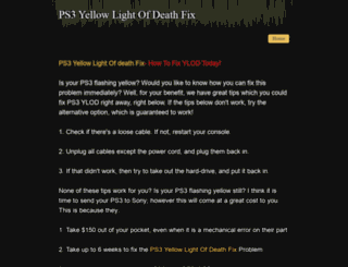 ps3yellowlightofdeath-fix.weebly.com screenshot