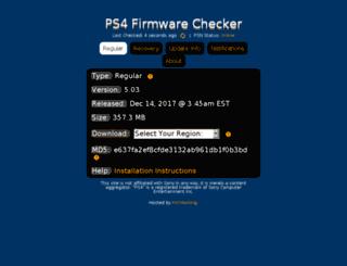 ps4firmware.com screenshot