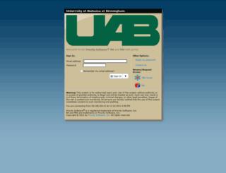 psapps.uab.edu screenshot