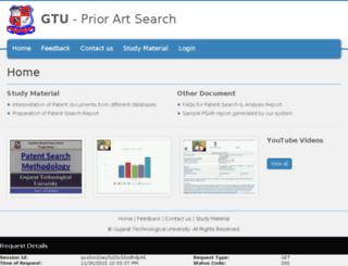psar.gtu.ac.in screenshot