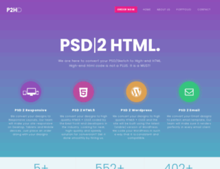 psd2htmldeveloper.com screenshot