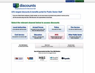 psdiscounts.com screenshot