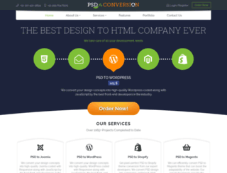 psdtoconversion.com screenshot