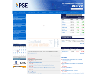 pse.com.ph screenshot