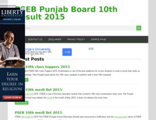 pseb10thresult2015.in screenshot
