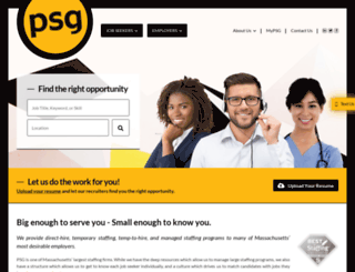 psgstaffing.com screenshot