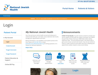 pshr.njhealth.org screenshot