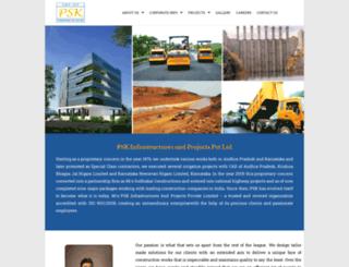 pskinfra.com screenshot