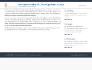 pslmanagement.com screenshot