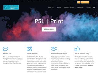 pslprint.com screenshot