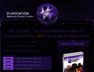 psnpointscodes.com screenshot