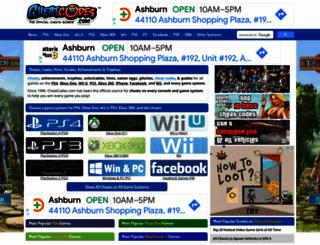 psp-cheats.cheatcodes.com screenshot