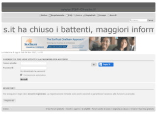 psp-cheats.forumitalian.com screenshot