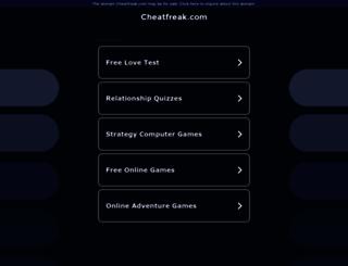 psp.cheatfreak.com screenshot