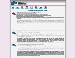 pspad.com screenshot