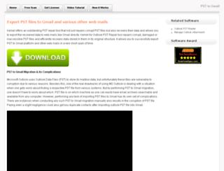 psttogmail.repairpstrecovery.com screenshot