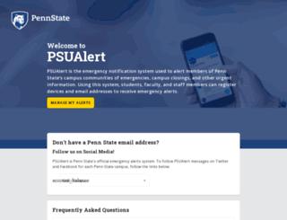 psualert.psu.edu screenshot