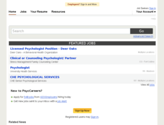 psyccareers.apa.org screenshot