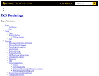 psych.ucf.edu screenshot