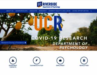 psych.ucr.edu screenshot