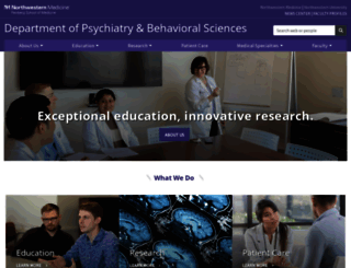 psychiatry.northwestern.edu screenshot