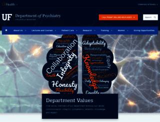 psychiatry.ufl.edu screenshot