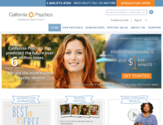 psychic.californiapsychics.com screenshot