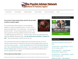 psychicadvisornetwork.com screenshot