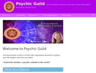 psychicguild.com.au screenshot