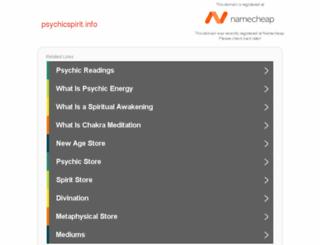 psychicspirit.info screenshot