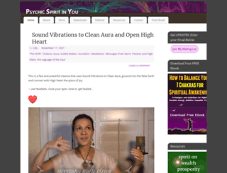 psychicspiritinyou.com screenshot