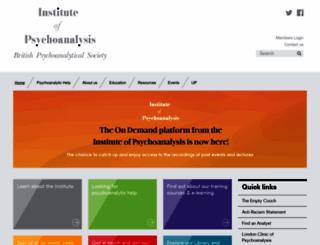 psychoanalysis.org.uk screenshot