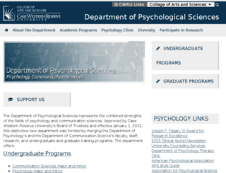 psychology.case.edu screenshot