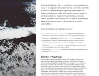 psychology.jrank.org screenshot