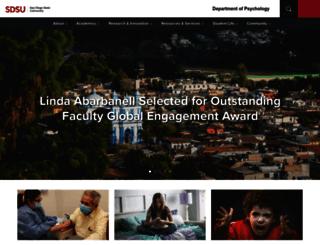 psychology.sdsu.edu screenshot