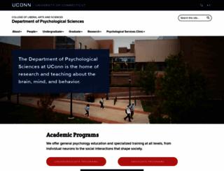 psychology.uconn.edu screenshot
