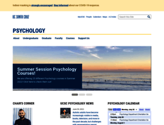 psychology.ucsc.edu screenshot