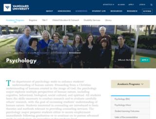 psychology.vanguard.edu screenshot