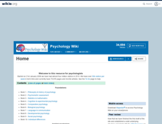 psychology.wikia.com screenshot