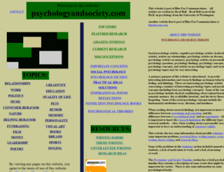 psychologyandsociety.com screenshot