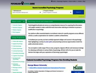 psychologyschoolguide.net screenshot