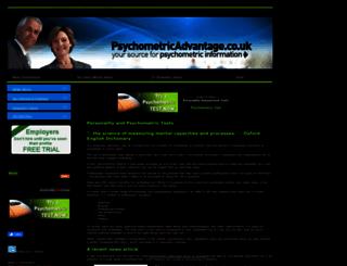 psychometricadvantage.co.uk screenshot