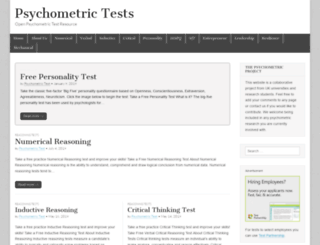 psychometrictest.org.uk screenshot