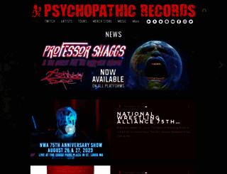 psychopathicrecords.com screenshot