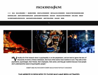 psychopathsandlove.com screenshot