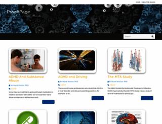 psychpage.com screenshot