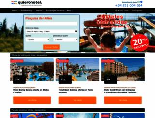pt.quierohotel.com screenshot