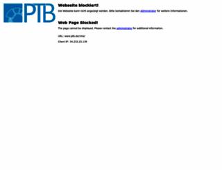 ptb.de screenshot
