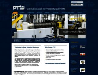 ptiextruders.com screenshot